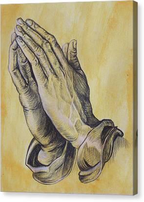 Praying Hands Canvas Print by Donovan Hubbard