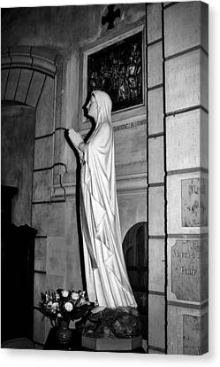 Canvas Print featuring the photograph Praying Nun 2 by Elf Evans