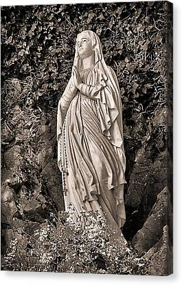 Canvas Print featuring the photograph Praying Nun by Elf Evans