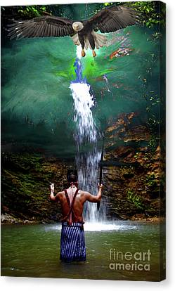 Canvas Print featuring the photograph Praying To The Spirits by Al Bourassa
