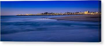 Pre Dawn In Santa Cruz Canvas Print by Steve Spiliotopoulos