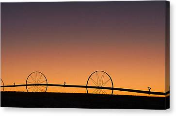 Canvas Print featuring the photograph Pre-dawn Orange Sky by Monte Stevens