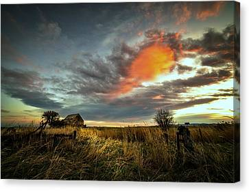 Pre-dawn Shack Canvas Print by Evan Jones