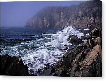Pre Irene Surge Canvas Print by Marty Saccone