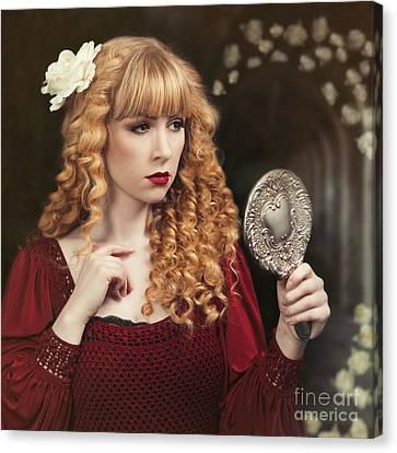Blonde Canvas Print - Pre-raphaelite Woman by Amanda Elwell
