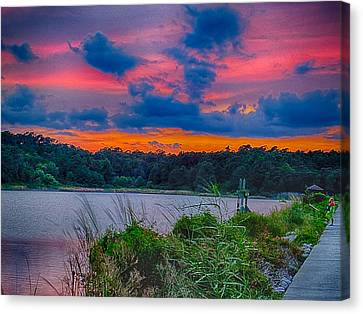 Canvas Print featuring the photograph Pre-sunset At Hbsp by Bill Barber