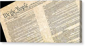 Preamble Of The Constitution Of The United States Canvas Print