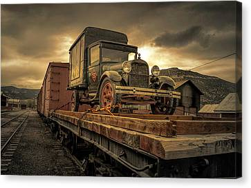 Canvas Print featuring the photograph Precious Cargo by Steve Benefiel