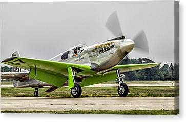 Canvas Print featuring the photograph Precious Metal Final Flight by Alan Toepfer