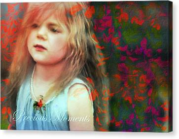 Blue Canvas Print - Precious Moments Of Innocence by Georgiana Romanovna