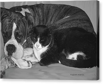 Precious Pals Canvas Print by DigiArt Diaries by Vicky B Fuller