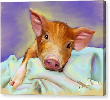 Precious Piggy Canvas Print