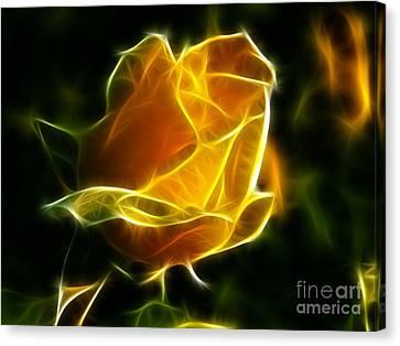 Precious Yellow Flower Diamond Style Canvas Print by Pamela Johnson