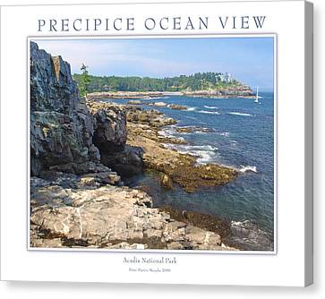 Precipice Ocean View Canvas Print by Peter Muzyka