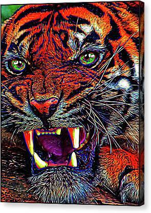 Predator Canvas Print by Alexey Bazhan