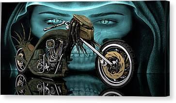 Canvas Print featuring the digital art Predator Chopper by Louis Ferreira