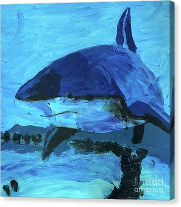 Canvas Print featuring the painting Predator by Donald J Ryker III