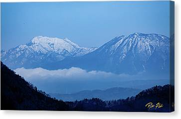 Canvas Print featuring the photograph Predawn Peaks by Rikk Flohr