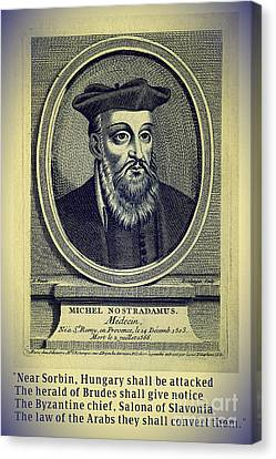 Predictions Of Nostradamus 4 Canvas Print