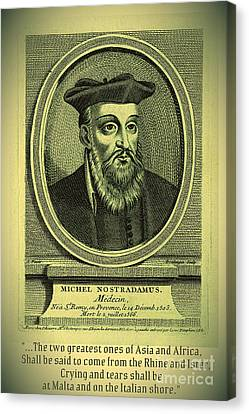 Predictions Of Nostradamus 2 Canvas Print