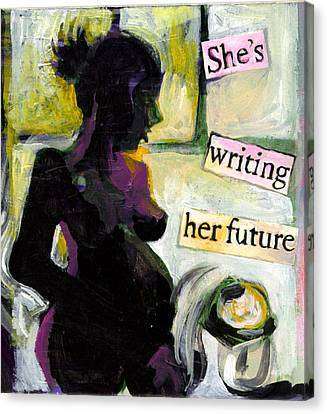 Pregnant Madonna Canvas Print