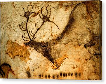 Prehistoric Artists Painted A Red Deer Canvas Print by Sisse Brimberg