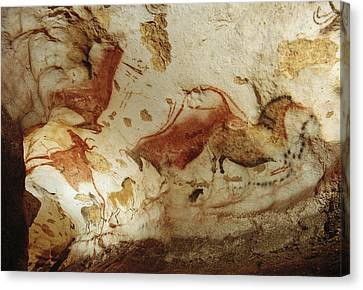 Prehistoric Artists Painted Robust Canvas Print by Sisse Brimberg