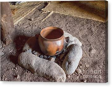 Canvas Print featuring the photograph Prehistoric Cooking  by Patricia Hofmeester