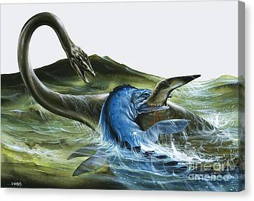 Prehistoric Creatures Canvas Print by David Nockels