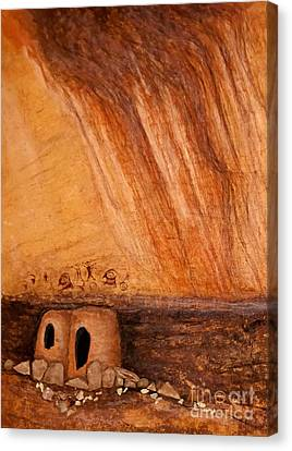 Prehistoric Rock Art Canvas Print by Janice Rae Pariza