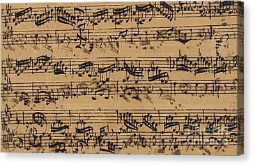 Orchestra Canvas Print - Prelude, Fugue And Allegro In E Flat by Johann Sebastian Bach