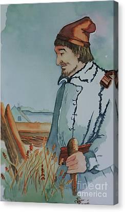 Premier Ancetre Rene Houellet Canvas Print by Lise PICHE