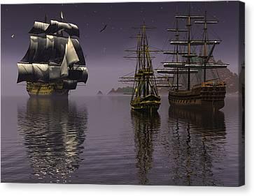 Prepare To Drop Anchor Canvas Print by Claude McCoy