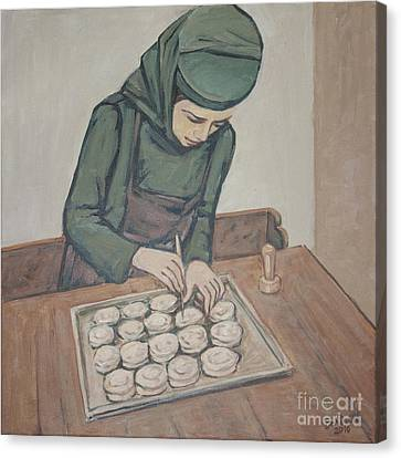 Preparing Communion Bread Canvas Print by Olimpia - Hinamatsuri Barbu