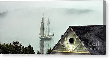 Preparing To Sail Canvas Print by Christopher Mace