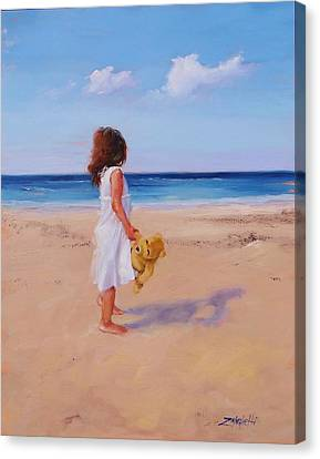 Canvas Print featuring the painting Precious Moment by Laura Lee Zanghetti
