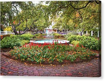 Prescott Park Garden Foliage Canvas Print by Eric Gendron