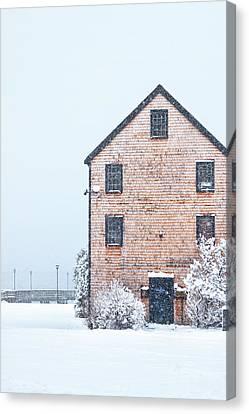 Prescott Park Winter Canvas Print by Eric Gendron