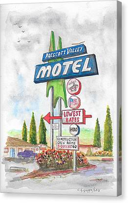 Prescott Valley Motel In Prescott, Arizona Canvas Print