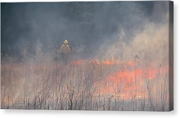 Prescribed Burn 4 - Uw Arboretum - Madison - Wisconsin Canvas Print by Steven Ralser