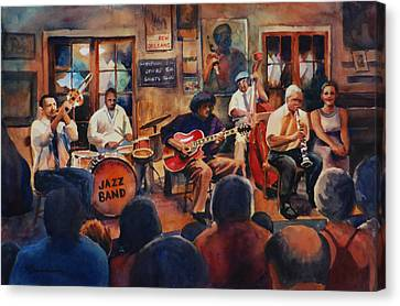 Preservation Hall Jazz Band Canvas Print by Sue Zimmermann