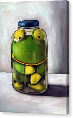 Frog Canvas Print - Preserving Childhood by Leah Saulnier The Painting Maniac