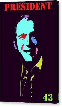 President 43 Canvas Print by Art Dreams