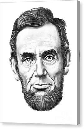 President Abe Lincoln Canvas Print by Murphy Elliott