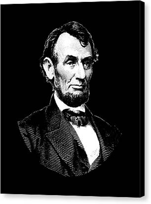 Lincoln Canvas Print - President Abraham Lincoln Graphic - Black And White by War Is Hell Store