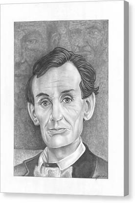 President  Abraham Lincoln Canvas Print by Julian  B