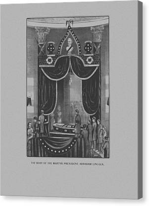 Patriots Canvas Print - President Abraham Lincoln Lying In State by War Is Hell Store
