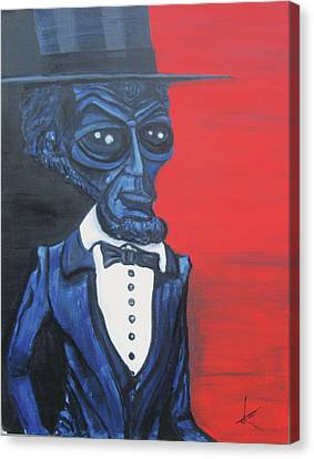 President Alienham Lincoln Canvas Print