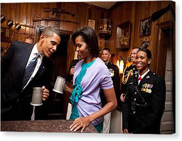 President And Michelle Obama Attend Canvas Print by Everett
