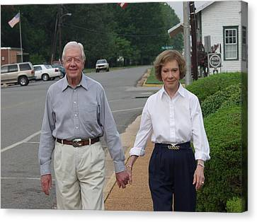 President And Mrs. Jimmy Carter Canvas Print
